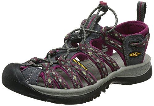 KeenWhisper - Scarpe da trekking e da passeggiata Donna , multicolore (Mehrfarbig (Magnet/Sangria)), 37 EU