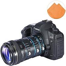 First2savvv XJPJ-CCW-03E07 tubo de extensión macro de con enfoque automático para cámaras fotográficas Canon EOS 50D 60D 60Da 70D 7D 5D 6D 760D + naranja paño de limpieza