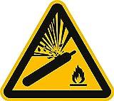 Schild PVC Warnung vor Gasflaschen ISO 7010 20 cm SL
