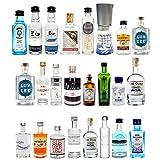 Mini Gin 24er Probierset aus Aller Welt - Bombay Sapphire + Gin Mare + Siegfried + Monkey 47 UVM.