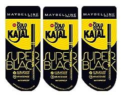 Maybelline New York Colossal Kajal, Super Black, 0.35g (pack of 3)