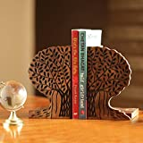 ExclusiveLane Tree of Life Book End In Sheesham Wood -Book Organizer Book Racks Shelf Table Top