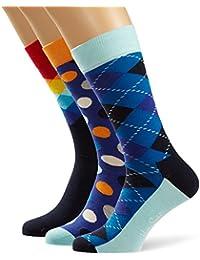 Happy Socks Boîte Cadeau Fathers Day Gift Box xfat08–6000Bleu marine