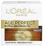 L'Oreal Paris Age Perfect Extra-Reichhaltig Gesichtscreme, mit Pro-Calcium für die Nacht, kräftigt und glättet trockene Haut, 50 ml