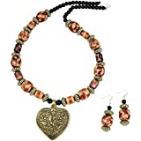 Fashionvalley Wooden Beads Antique Pendant Designer Necklace for Girls & Women