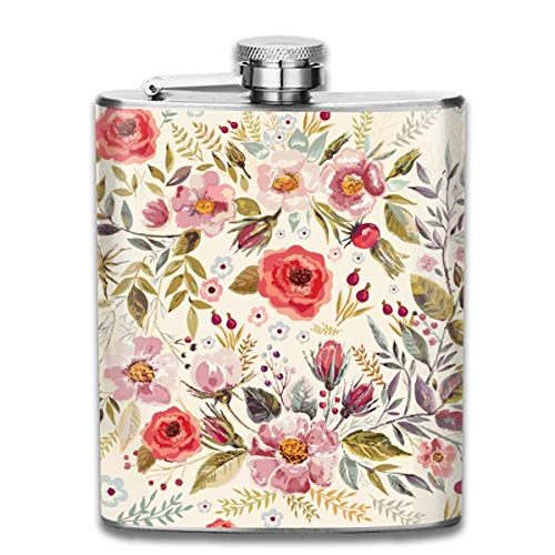 Gxdchfj Bungalow Rose 7 Oz Pocket Hip Alcohol Liquor Flask Print Printing-Made from 304(18/8) Food Grade Stainless Steel -