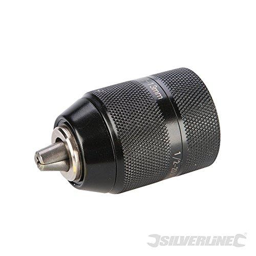 Silverline 633613 - Mandrino autoserrante in acciaio al manganesio, 13 mm