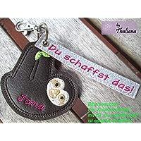 FAULTIER mit Namen personalisierbar Schlüsselanhänger Taschenanhänger tolles kleines Geschenk f. Geburtstag Valentinstag