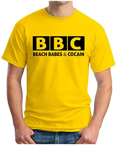 OM3 - BBC - Beach Babes & Cocain - T-Shirt Sex Drugs Rock n Roll Playa FUN, S - 5XL