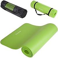 Readaeer Fitnessmatte Yogini für Gymnastik Yoga Pilates 183 x 61 x 1,0 cm mit Tasche und Tragegurt