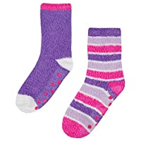 Boys Girls Soft Fleece Thermal Lounge Cosy Socks (Pack of 2)