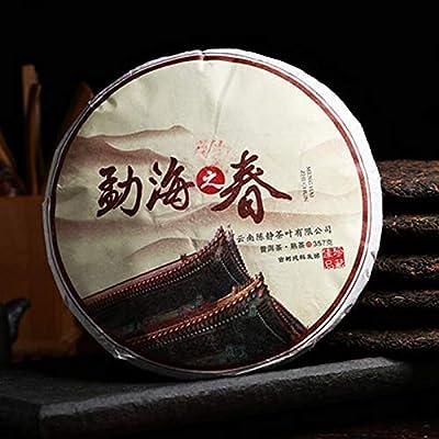 357g (0.787LB) Thé du Yunnan Pu-erh Thé mûr du Pu'er Menghai springl cuit Shu Seven thé au thé puerh Thé noir Thé rouge Thé Pu'er Thé Puer Thé chinois Thé Pu Shu Cha aliments sains Nourriture verte Vieux arbres Pu erh thé thé cuit