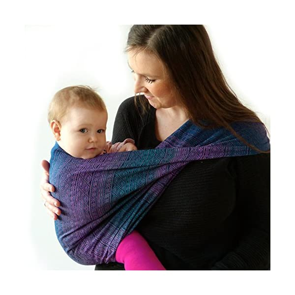 Didymos Woven Baby Wrap, Prima Sole Occidente, Size 6, 470 cm, Blue Didymos Various carrying positions, in front, sideways an on the back Special, diagonally stretchable cloth to give optimal support Holds your baby in the anatomically correct posture 3