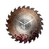 Preis am Stiel 'Precio en el Palo Reloj de Pared Hoja de Sierra con Sangre   Taller Reloj, Reloj de Sierra Circular, Decoración, Idea de Regalo para Hombres   para Salón   Reloj de Cocina   Reloj