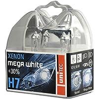 Unitec 77781 Xenon MegaWhite - Bombilla H7 para faros delanteros (12 V, 55 W, 2 unidades)