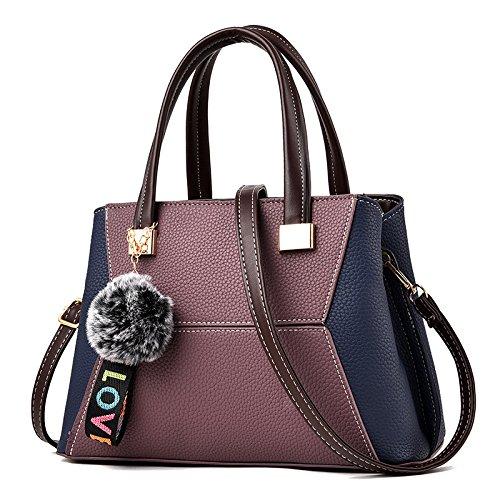 GUANGMING77 _ Borsa Tipo Borsa Tracolla Messenger,Promessa Grande Sacchetto Rosso Deep purple bag promise