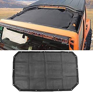 Skuntuguang Durable Polyester Mesh Top UV Sun Protection for Wrangler 2-Door Jk Open or JKU 2007-2017Original Black Unrivalled Sun Protection Mesh Net Soft Top Net