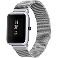 Correas para xiaomi huami amazfit bip youth ,❤️Amlaiworld Muñequera Correa de reloj de pulsera de acero inoxidable para Xiaomi Amazfit Bip Youth Watch ...