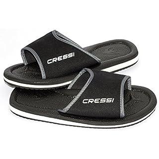 Cressi Lipari - Slipper für Strand und Schwimmbad - Erwachsene und Kinder,Mehrfarbig (Schwarz), 42 EU