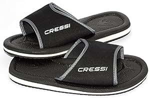 Cressi Swim Uni Bade Sandale Lipari, schwarz, 35, VB951635