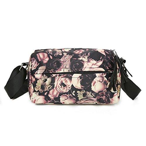 2017 Borse donna,Kangrunmy®Moda borsa Nylon fiori floreale borsa a tracolla grande Tote borsa delle signore E