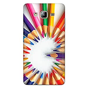 DASM United Samsung On7 Pro Premium Back Case Cover - Color Pencil Heart