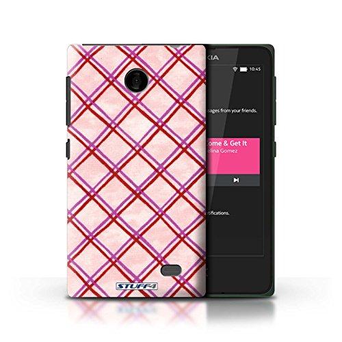 Kobalt® Imprimé Etui / Coque pour Nokia X / Rouge/Vert conception / Série Motif Entrecroisé Rose/Rouge