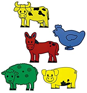 Henbea- Pack de 5 Animales Gigantes de Granja, Multicolor (829)