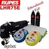 """Rupes BigFoot LHR75E 3"""" Standard Edition Detailing Polishing Machine Kit Rupes Zephir and Keramik Compound and Pads to remove deep scratches and Restore Paintwork + Spare Foam Pads"""