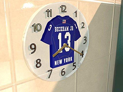 nfl-horloge-murale-avec-t-shirt-incorpore-personnalisation-gratuite-nimporte-quel-nom-numero-equipe-