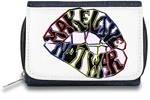 Make Love Not War Monedero de Cremallera Bolso Zipper Wallet| The Stylish Pouch To Keep Everything Organized| Ideal For Everyday Use & Traveling| Authentic Accessories By Hamerson
