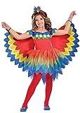 Magic Box Disfraz de niña Bonita Loro para niños Small (5-6 Years)