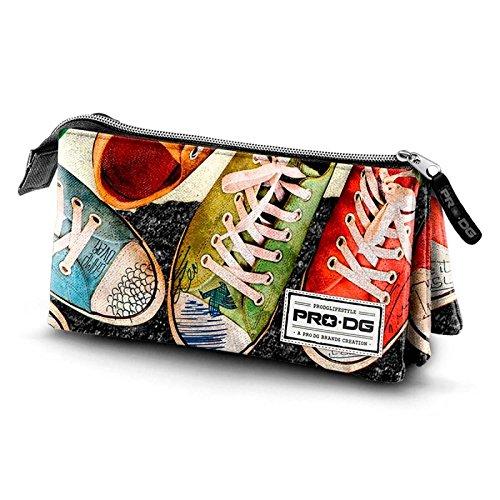 PRODG Sneakers Estuche portatodo triple, 24 cm, Gris