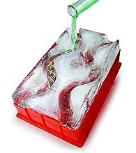 Barbuzzo Luge à glace réutilisable (double piste) – Il suffit d'ajouter de l'eau, de congeler et de profiter en 24 heures – La pièce centrale parfaite pour toute fête