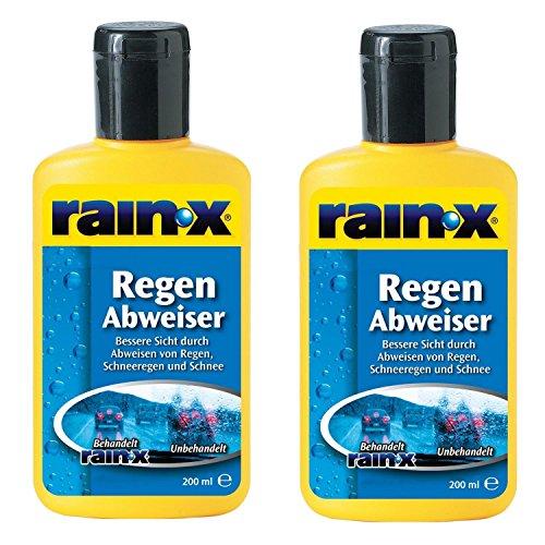 2x-Rain-X-Regenabweiser-200-ml-Scheibenwischer-Auto-Scheibenreiniger