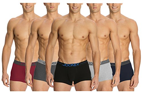 Jockey Comfort Plus Modern Trunks - Assorted Pack Of 5 (colors May Vary)