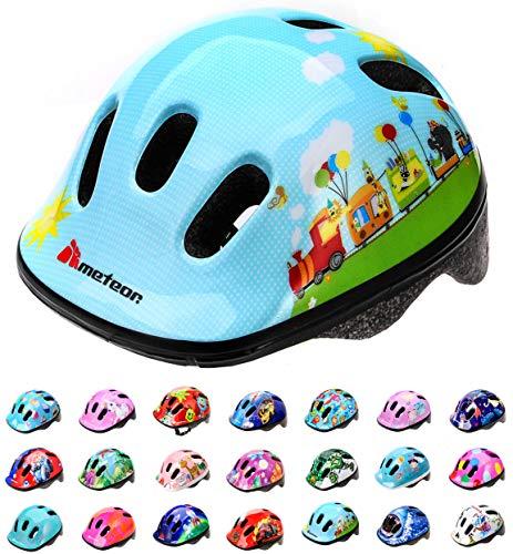 meteor® Fahrrad-Helm Kinder-Jugend-helme: Radhelm Radsport Skateboard Inline-Skate BMX Scooter - Entwickelt für die Sicherheit der jüngsten Benutzer - Jüngstes Kind
