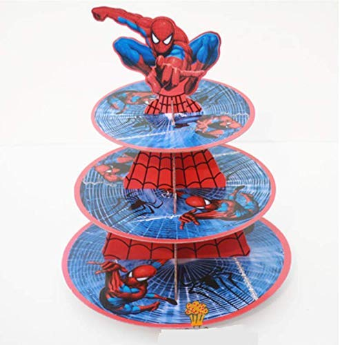 Astra Gourmet Super Hero Carton support à cupcake Dessert Tour, Spiderman
