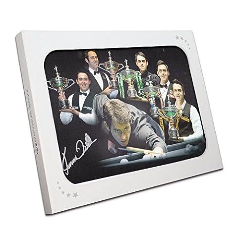 Ronnie O'Sullivan Signé Snooker Photo: Cinq fois champion du monde