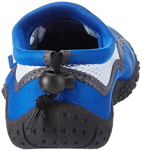 AQUA-SPEED Scarpe Di Acqua Per Spiaggia - Mare - Lago - Pantofole Ideale Come Protezione Per I Piedi - #As17 Navy blu/Blu/Bianco