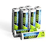 PowerDriver 1000mAh Aa Rechargeable NiCD Ni-CD Batteries, 8 Pack