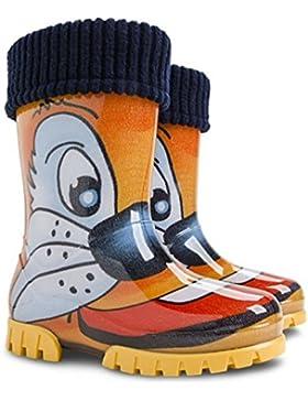Demar , Jungen Stiefel orange navy