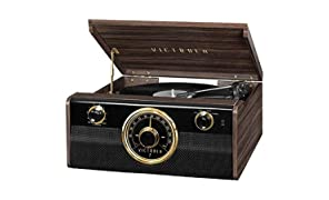 Victrola Empire Junior 4-in-1 Bluetooth Turntable Music Centre - Expresso