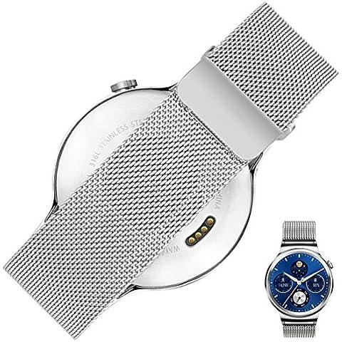 Huawei Watch Cinturino in pelle–Rerii 18mm di larghezza cinturino in pelle liscia con sgancio rapido Pins per Huawei Smart Watch