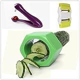 MAXGOODS 3 Unidades/ Set Peladores Cortador para Frutas Verdura Diferentes Usos