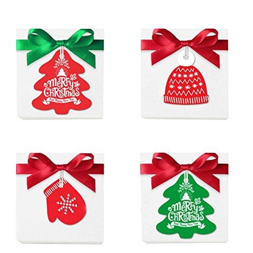 Kicode Weihnachtsbaum 8pcs / Set Geschenk-Umbau Papier-Etiketten Hanging-Karte Weihnachten Festival-Party Startseite Ornament Dekor