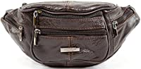 Mens / Ladies / Womens Leather Bumbag / Waist Bag with Adjustable Waist Strap - Brown