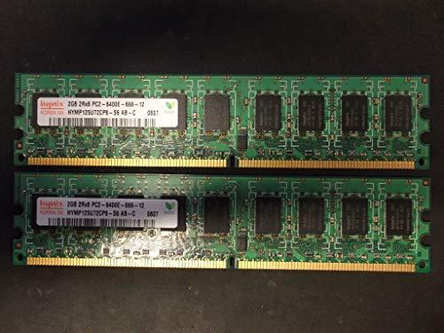 Hynix 2Rx8 4 GB (2x2GB) HYMP125U72CP8 PC2-6400E ECC Unbuffered - Nicht Ecc-unbuffered Ddr2