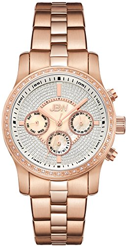 JBW WOMEN'S VIXEN DIAMOND 37MM ROSE GOLD PLATED CASE SWISS QUARTZ WATCH J6327C