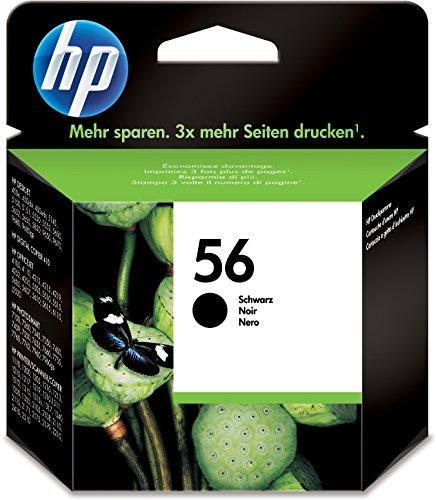 HP 56 Schwarz Original Druckerpatrone für HP Deskjet, HP Photosmart, HP PSC,...